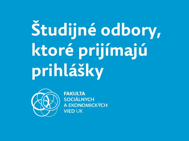 Študijné programy, ktoré prijímajú prihlášky